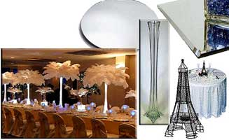 AMEREVENT.com ostrich feather centerpiece rental. Best price GUARANTEE!